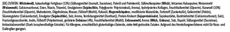 Amfit Protein Riegel Zutaten